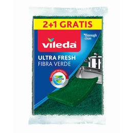 Spugna Ultrafresh 2+1 Fibra Verde